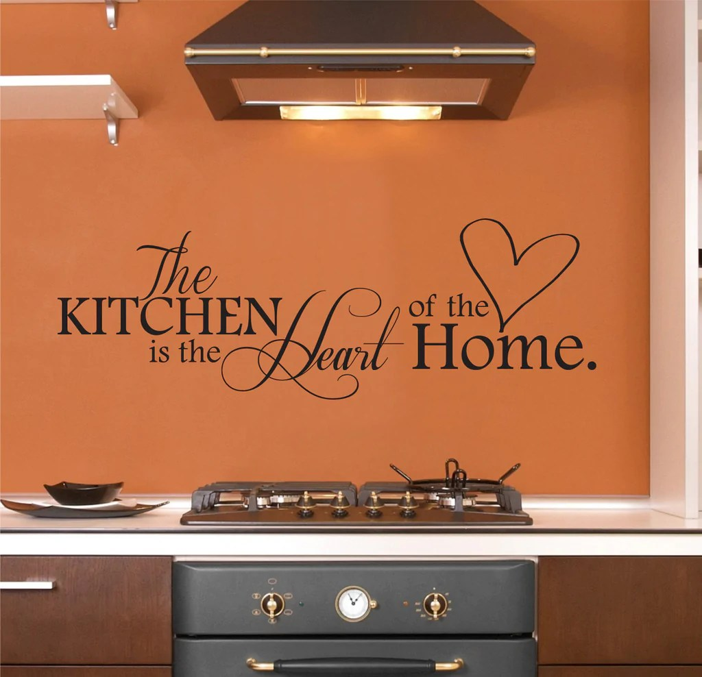 art for the kitchen rug is heart of home wall decal decor