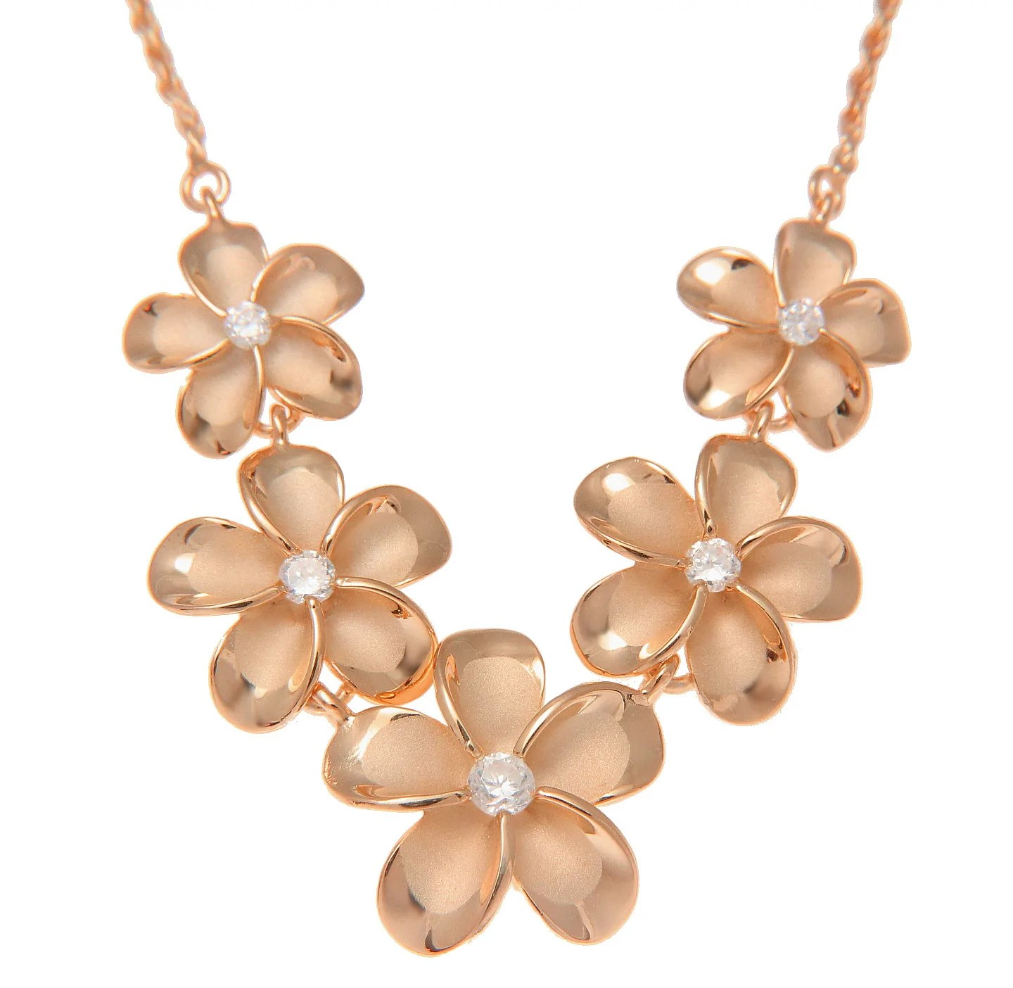 pink rose gold plated