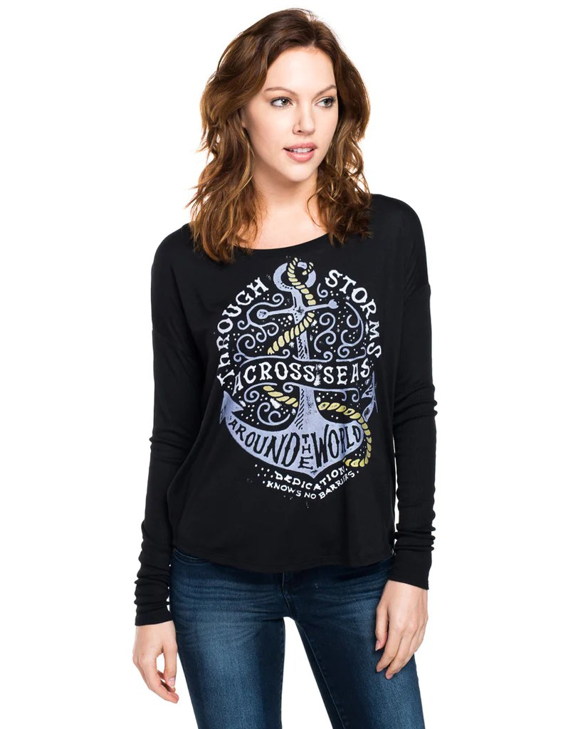 Through Storms Flowy Long Sleeve Tee