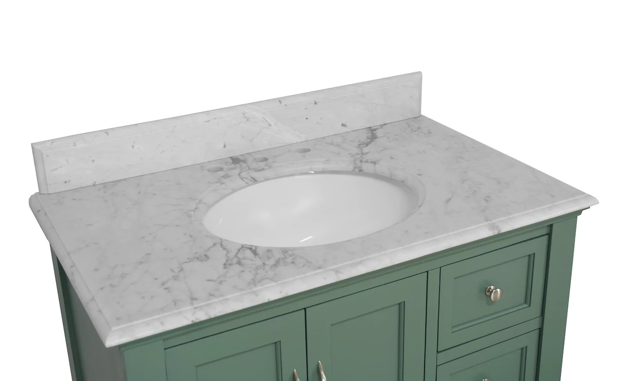 beverly 36 inch vanity with carrara marble top