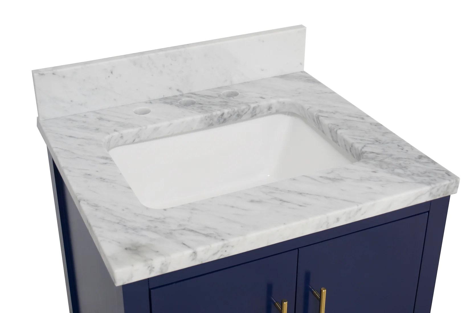 california 24 inch vanity with carrara marble top