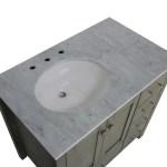 Horizon 36 Inch Modern Bathroom Vanity With Carrara Marble Top Kitchenbathcollection