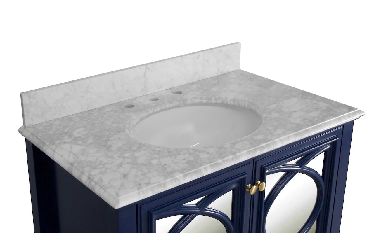 olivia 36 inch vanity with carrara marble top