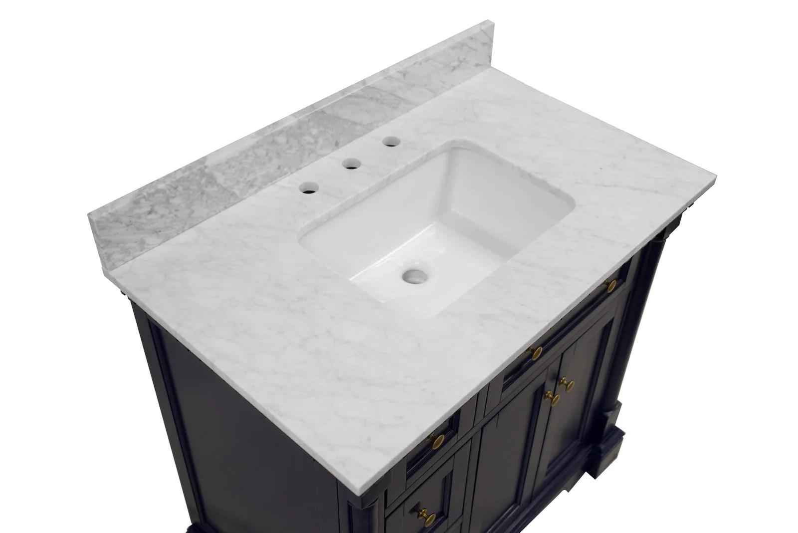 sydney 36 inch vanity with carrara marble top