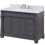 Westminster 48 Traditional Bathroom Vanity With Carrara Marble Top Kitchenbathcollection