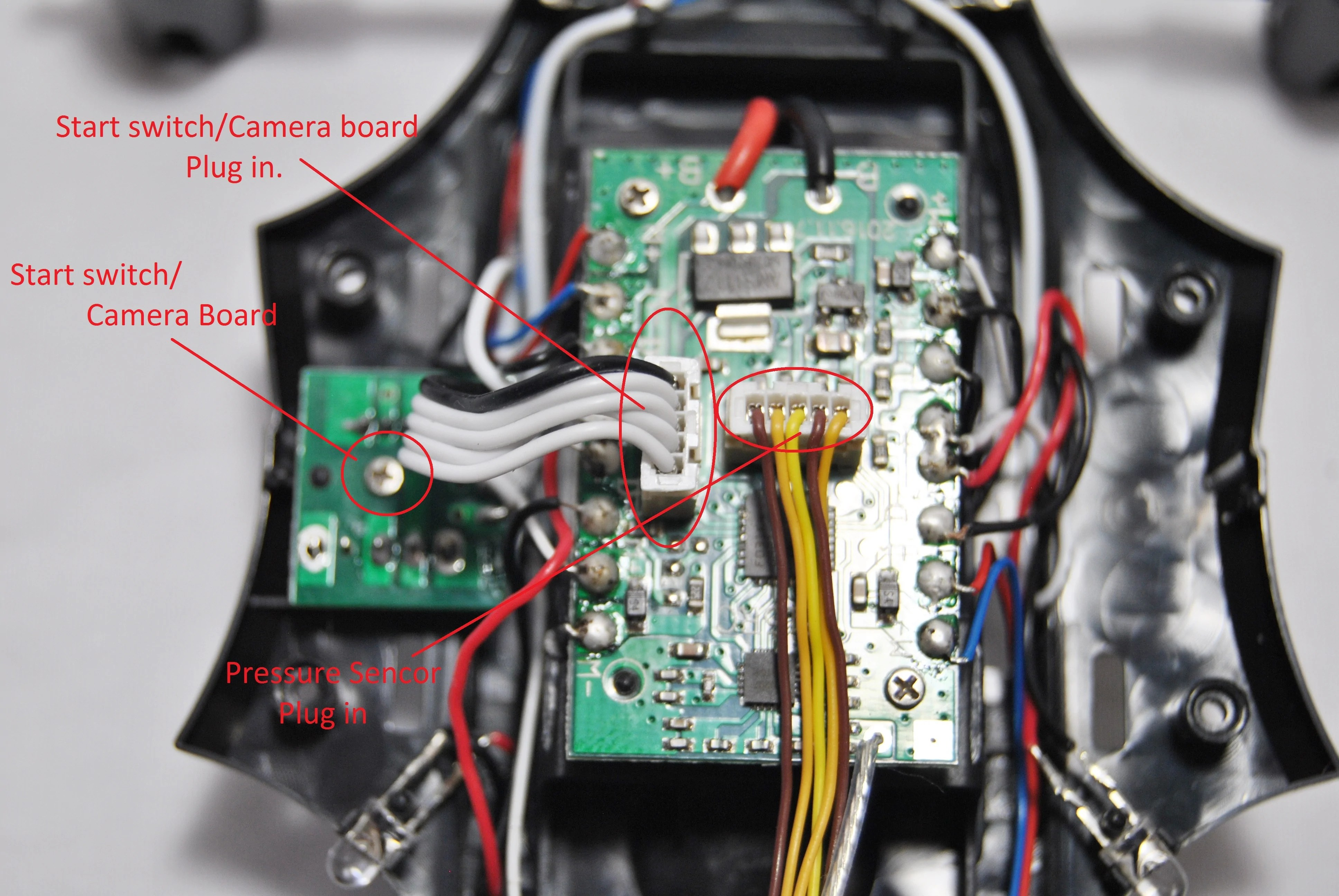 small resolution of now remove the pressure sensor wiring harness from the esc use a small flat screw driver to loosen it up on all sides so that you don t have to pull on the