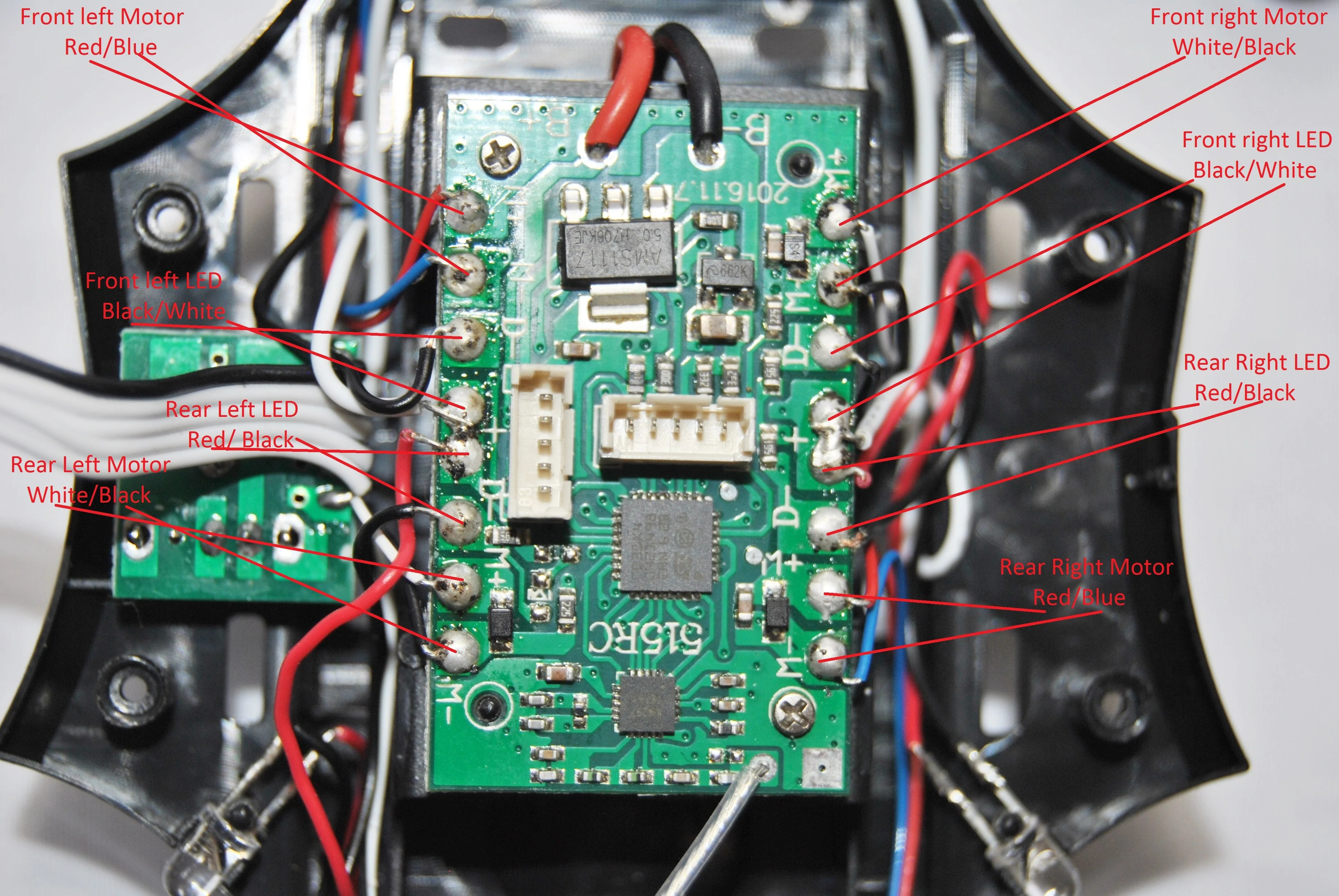hight resolution of two screws have to be removed to lift the board out remove the two wiring harnesses from the esc as described above before you de solder the board