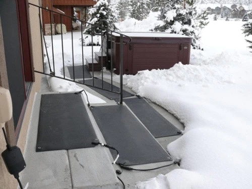 Heattrak Heated Snow Ice Melting Mats And Snow Removal Systems   Outdoor Stair Treads For Ice And Snow   Heated   Mat   Cool Inventions   Non Slip Mats   Heattrak