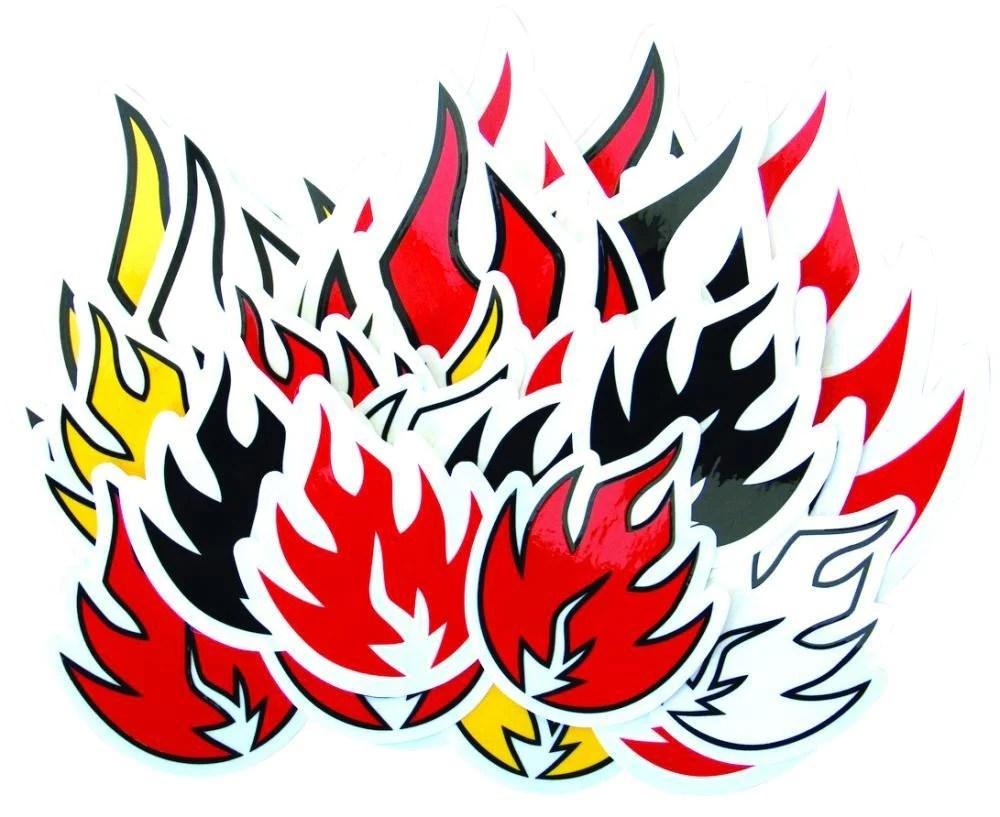 black label assorted flame