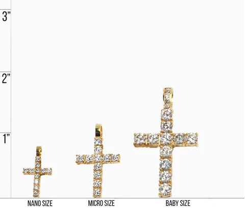 Cross necklace size chart also  if co rh ifandco