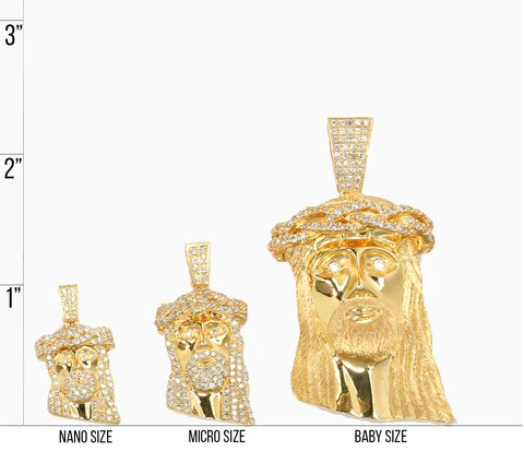 Real gold jesus chain also necklace size chart  if co rh ifandco