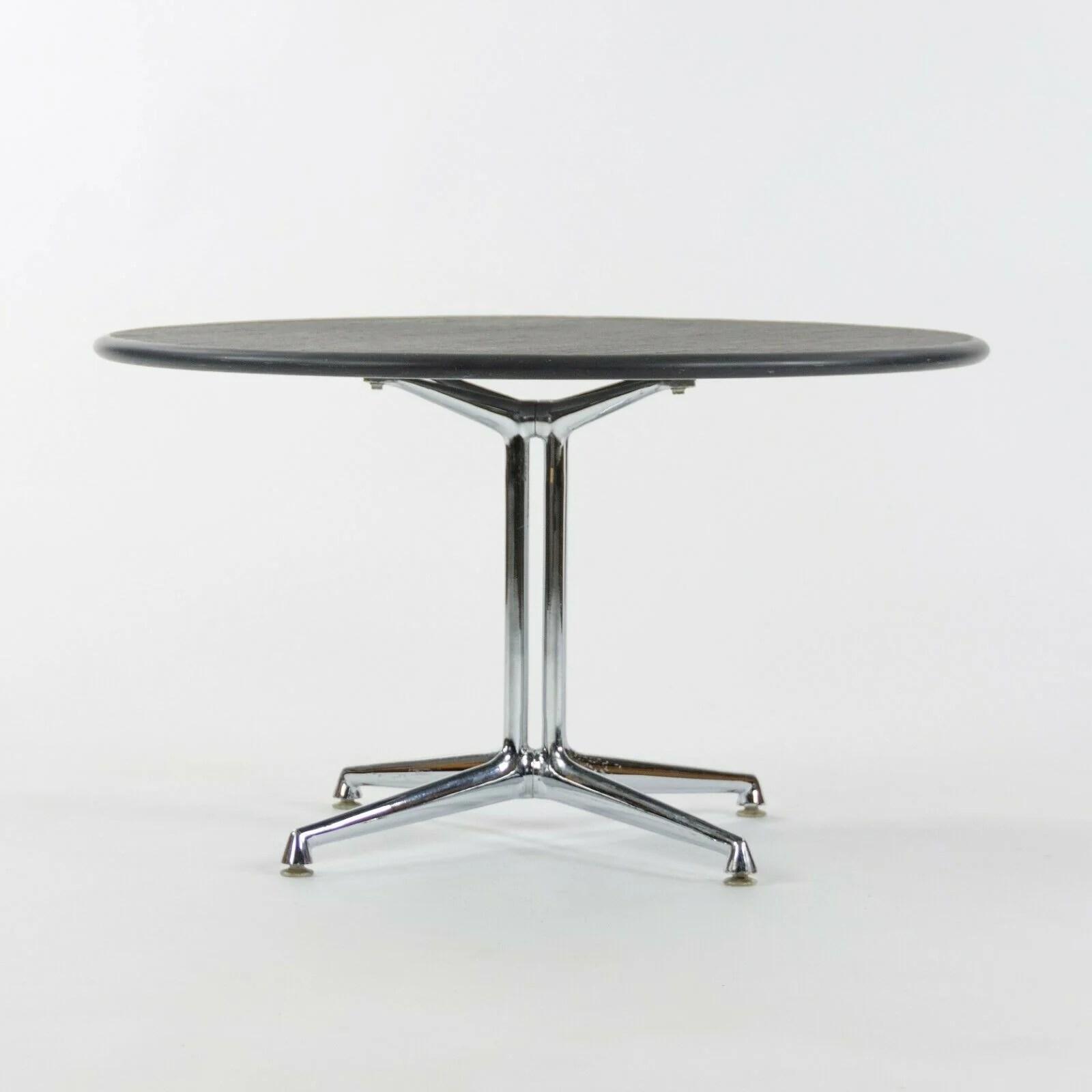 1970s herman miller eames girard la fonda end coffee table w round slate top