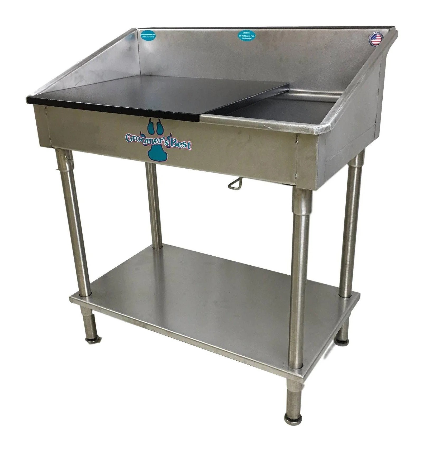groomer s best stainless steel shallow utility sink for grooming and veterinary professionals