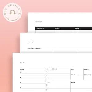 printables day designer