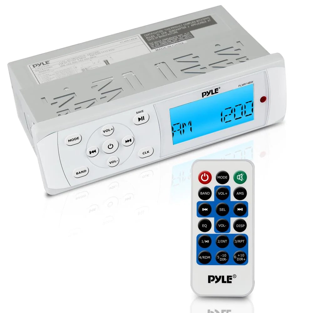 medium resolution of pyle plmr14bw 200 watt universal bluetooth marine stereo radio receiver with bluetooth and weatherband