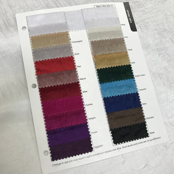 Lush Velvet Color Card  Urquid Linen