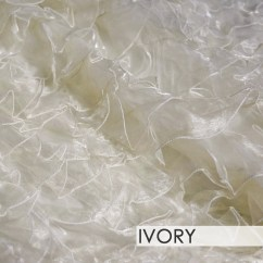Ivory Chair Covers Spandex Wheelchair Hire Bali Ruffled Organza - Table Skirt (no Topper) – Urquid Linen