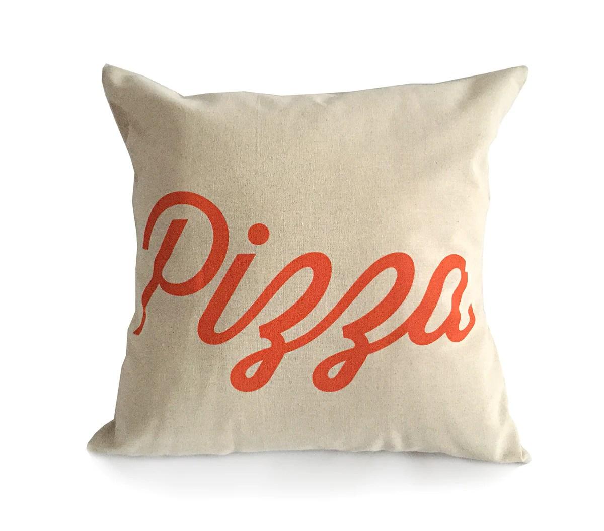 pizza throw pillow script
