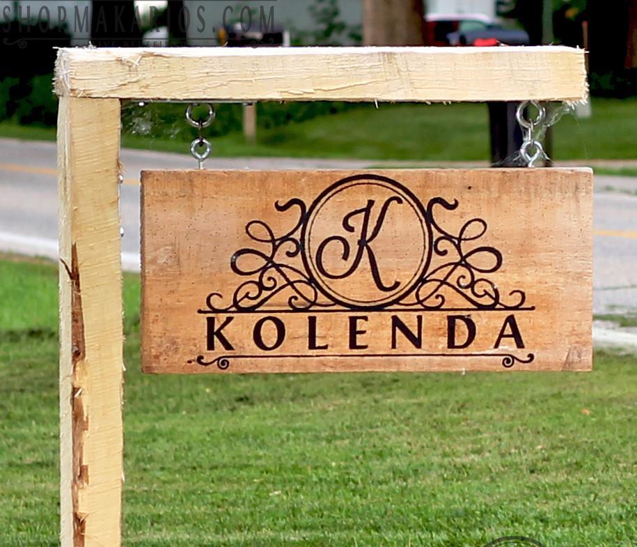 custom outdoor sign yard