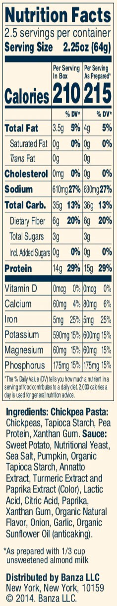 Banza Pasta Nutrition Facts : banza, pasta, nutrition, facts, Frequently, Asked, Questions, Banza