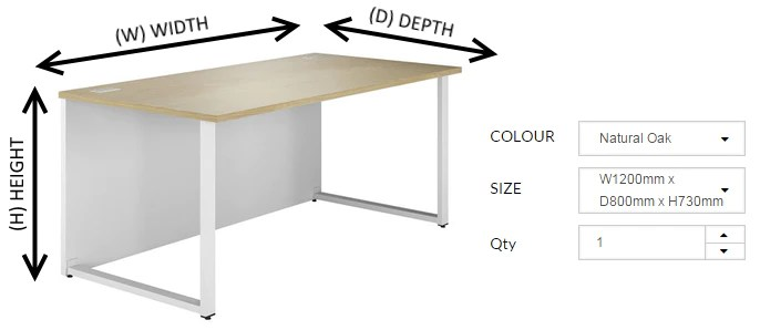 Understanding Office Furniture Measurements  Kit Out My