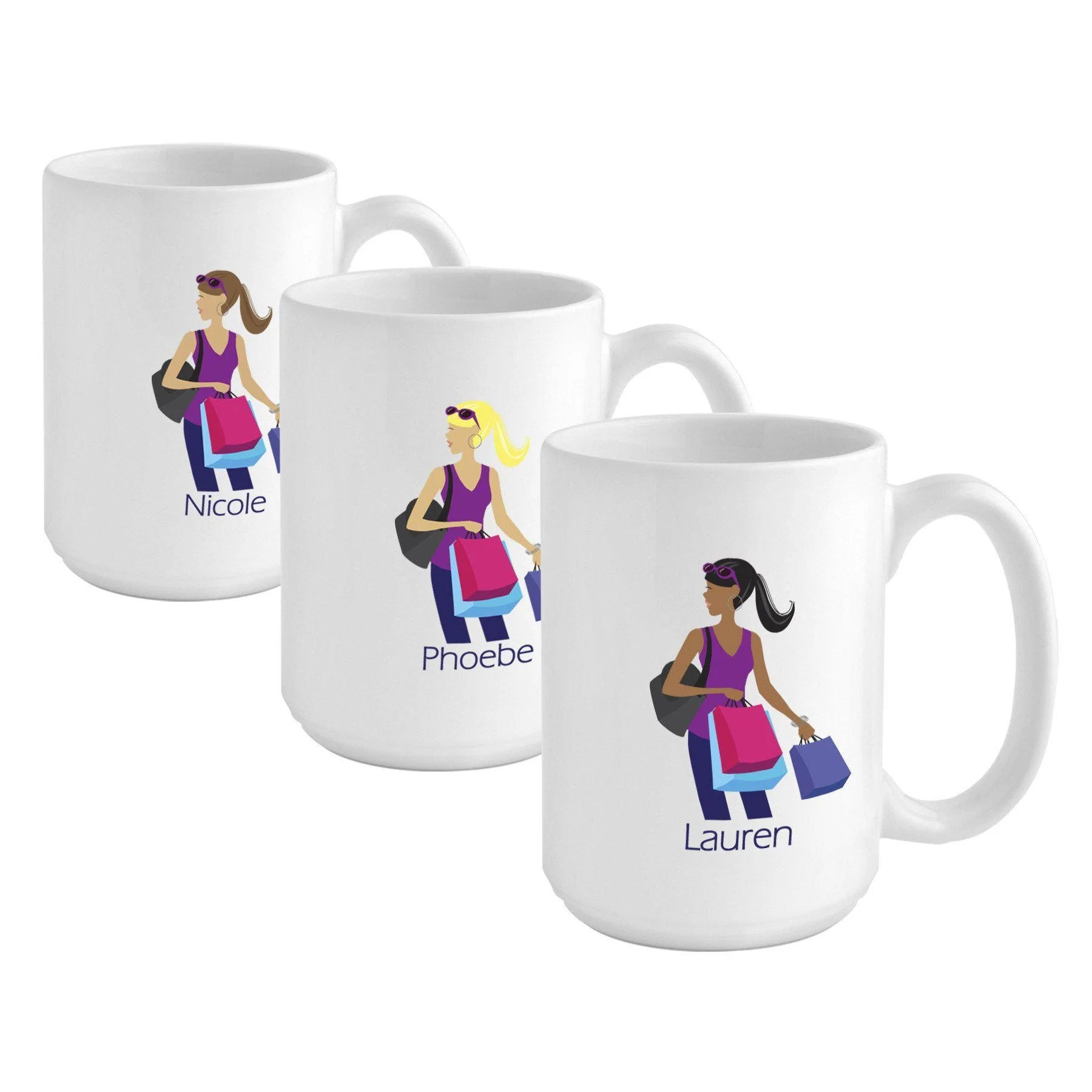 Personalized Go Girl Coffee Mug Golfer Runner Shopper
