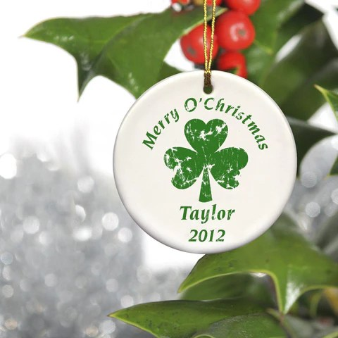 personalized christmas ornaments couple