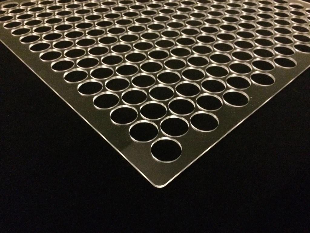 Basic Penny Floor Tile Template Jig (plexiglass)