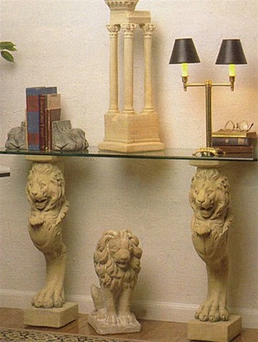 Lion Leg Renaissance Home Decor Stand Or Console Base 29H For Sale