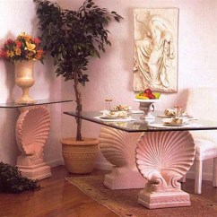 Kitchen Table Base Design New Layout Shell Scalloped Dining 29h Museumize