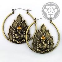 Ganesha Tunnel Hoop Earrings | Tulsa Body Jewelry
