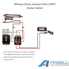 Actuator Wiring Diagram Cdi Ignition For Diagramrocker Switches Linear Actuatorsspring Loaded To Return The Middle Off Position