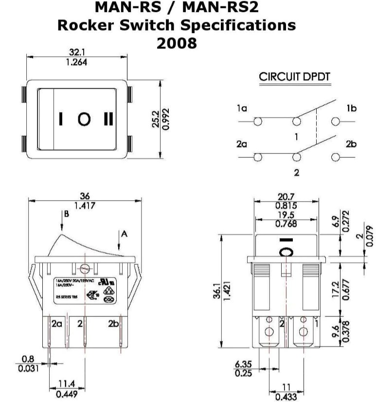 Rocker Switches for Linear Actuators  Momentary and Sustaining
