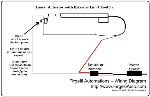 limit switch wiring diagram 1994 ford explorer fuse box how to use an external with a linear actuator