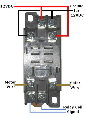 relay base wiring diagram ac dual capacitor 12 volt double-pole double-throw quick connect socket
