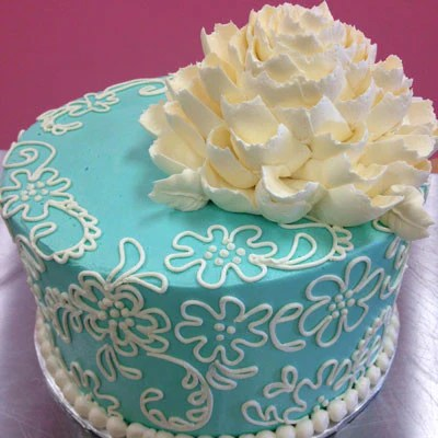 White Flower Cake Piping Designs Tutorial