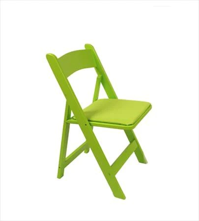 wooden folding chairs for rent posture seat babies party rental products lime green wood chair smith