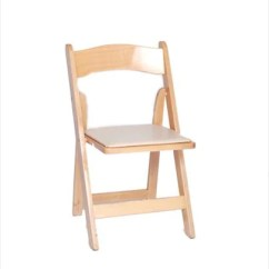 Wooden Folding Chairs For Rent Cooler Pouch Beach Chair Party Rental Products Natural Wood Smith