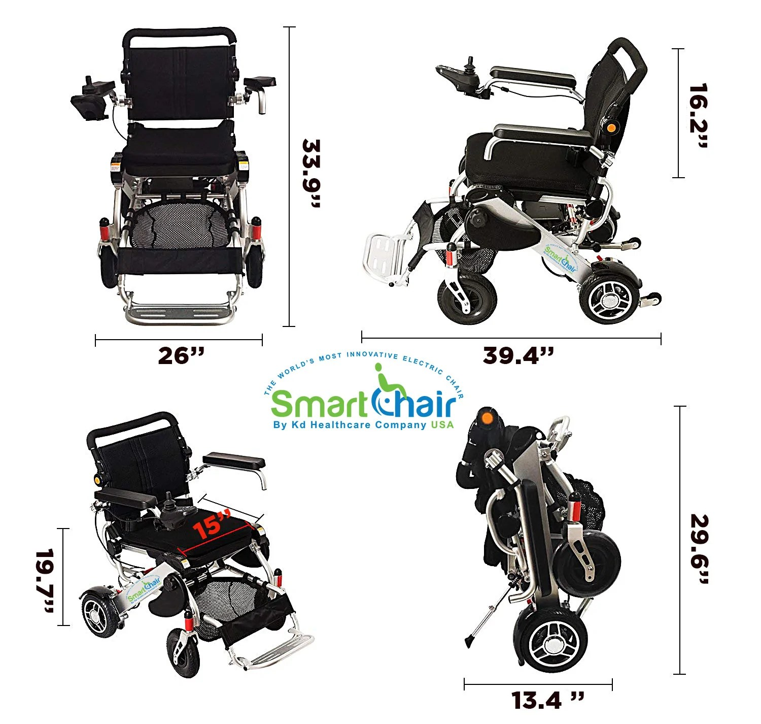 smart chair electric wheelchair by kd healthcare desk ball heavy duty power foldable and