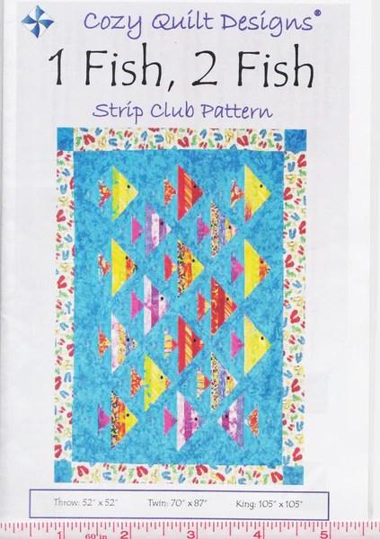 1 Fish 2 Fish Cozy Quilt Design Pattern Jordan Fabrics