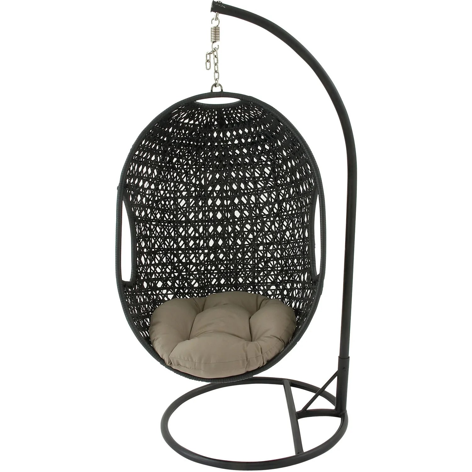 egg chair swing spandex covers walmart hanover outdoor wicker rattan hanging swing01 bbqdeal com