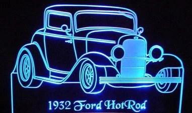 1932 Ford Hot Rod Desk SignPlaque  CarFurniturecom