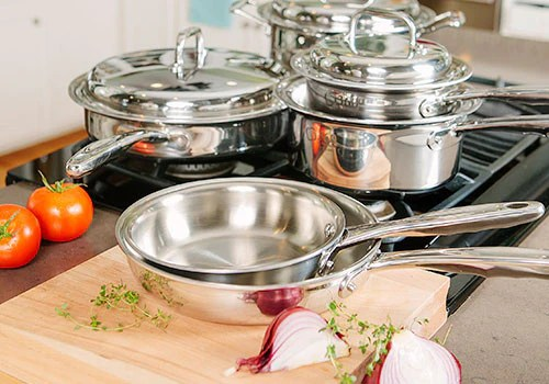 kitchen pots and pans can i just replace cabinet doors 360 cookware greaseless healthier more flavorful cooking