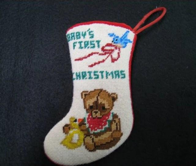 Babys First Christmas Mini Stocking Qr