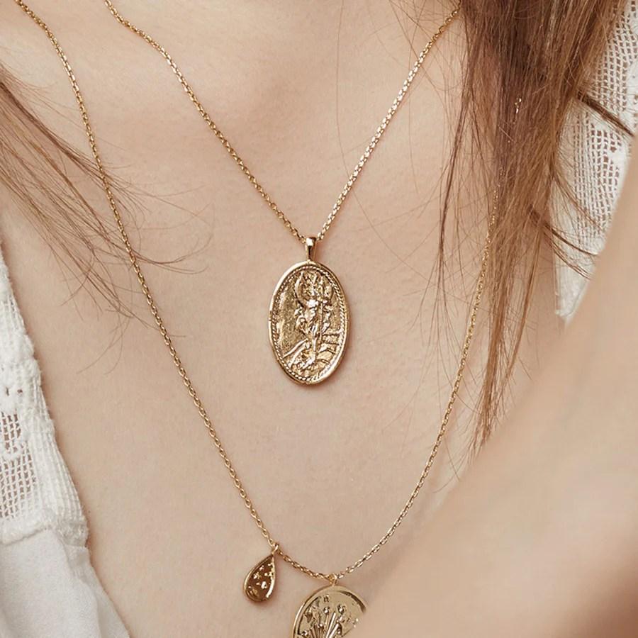 Iris Goddess Gold Necklace Wanderlust