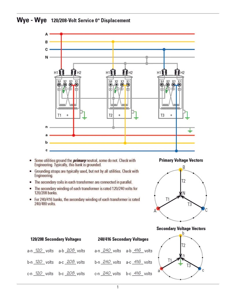 hight resolution of transformer connection diagrams