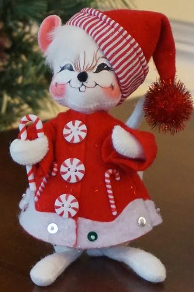 Annalee Candycane Stripe Mouse Boxwood Lane Annalee