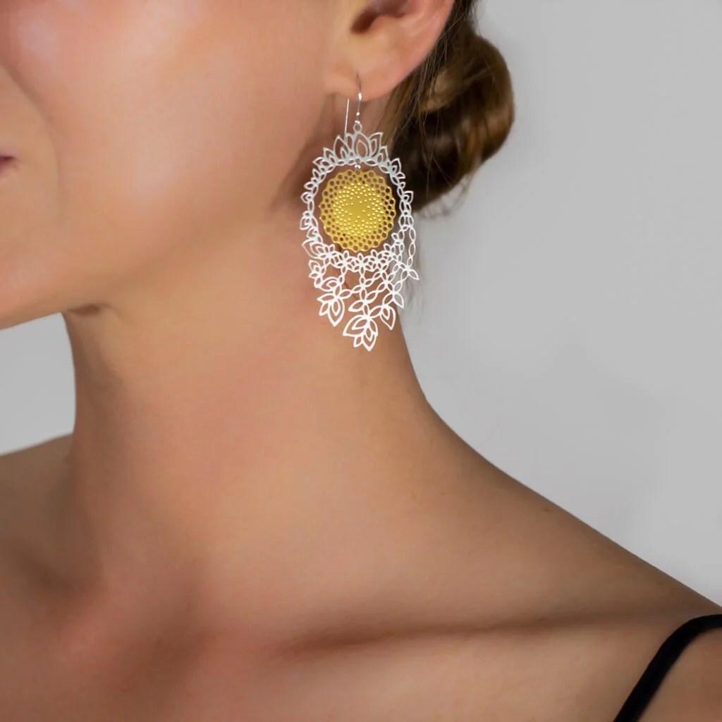 medium resolution of flower of life earrings 3