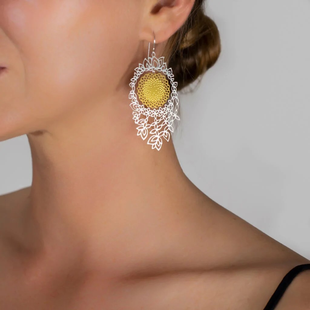 small resolution of flower of life earrings 3