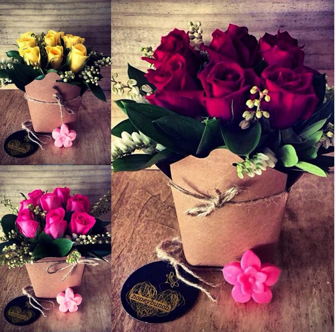 romantic rose flower pocket